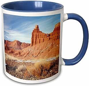 3drose danita delimont–摇滚形成–chimney 摇滚形成, capitol REEF ,犹他州,美国–us45ssm0474–SCOTT T. Smith–马克杯 蓝/白 11 oz