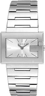 [古驰]GUCCI 腕表 G rector 银色表盘 不锈钢表带 YA100520 女士
