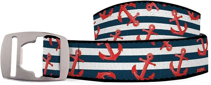 Croakies (CROCY Artisan 1 皮带,开瓶扣,锚纹,106.68cm