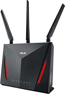 ASUS rt-ac88u ac2900 双频路由器 Trend Micro aiprotection AI 网眼、8个千兆 LAN 端口 wtfast 游戏 accelerator 免费、链路聚合、adaptive QoS ASUS 路由器 APP 支持 双-WAN、支持 3 G / 4G