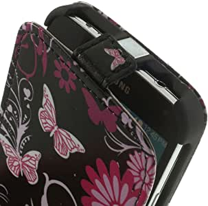 JUJEO Carrying Case for Samsung Galaxy S5 G900 - Non-Retail Packaging - Butterfly Flowers