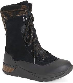 Muck Boot 女式 Apres 蕾丝 v2 皮革,颜色:黑色,尺寸: