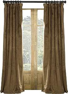 "Artdix 遮光窗帘窗帘 - 天鹅绒衬里后标签育儿隔热纯色保暖定制窗帘适用于卧室、客厅、儿童房 新款 Fawn (72"" W x 102"" L) x 2 PR-ZG-RO+CB-tab-New Fawn-26-72x102"