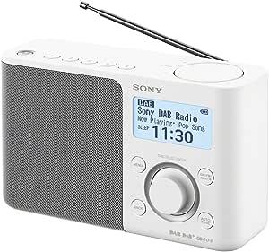 SONY xdrs61db 的数码收音机 (fm/dab/dab + STATION 内存 RDS 功能报警电池和 mains 工序耳机接口) 黑色