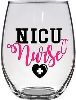 NICU *酒杯,21 盎司,RN 礼品,*礼物,新生儿 ICU,婴儿*,护理学校礼物,*酒杯