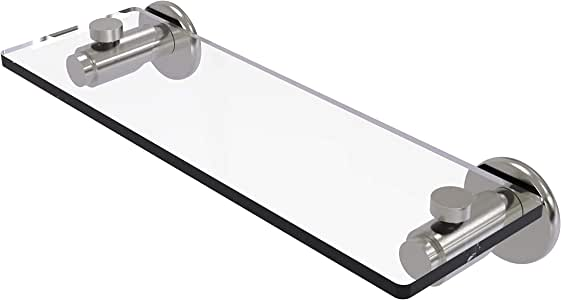 Allied Brass Tribecca 玻璃梳妆台 亮灰色(Satin Nickel) 16 英寸 TR-1/16-SN