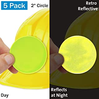 SmartSign 荧光黄复古反光硬质帽标签 | 5.08 厘米圆圈,10 件装