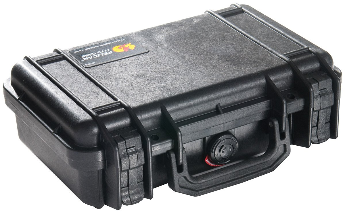 PELICAN 派力肯 #1170 安全箱摄影器材防护箱小型箱 (黑色) 含标准海绵