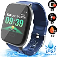 AMENON 智能手表 IP67 防水运动健身追踪器 女式男式 1.5 英寸高清屏幕*心率监测活动追踪器 1.3