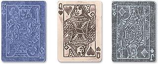 Sizzix 657194 Texture Trades Embossing Folders,Poker Face Set 由 Tim Holtz 制造,3 件装,多色