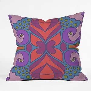 DENY Designs Paula Ogier Coral Sea 1 Throw Pillow, 16 x 16