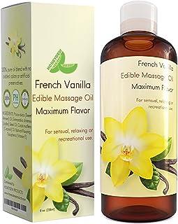 Massage Essential 油适用于情趣按摩 - 可食用法式香草按摩油,*级荷巴甜杏仁和椰子身体油,滋润和光滑肌肤 - 缓解肌肉*