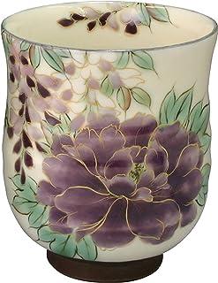 爱托 茶杯 白挂 紫草花 大 京烧 清水烧 陶あん窑 茶杯 トウア576-01