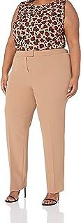 Anne Klein 女士 Size Plus 绉纱修身裤