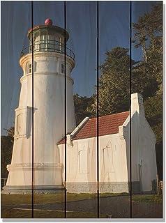 Gizaun Art Light House Inside/Outside Full Color Cedar Wall Art 28 x 36 in.