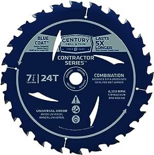 Century 钻和工具组合接触器系列圆形锯片 7-1/4-inch by 24T 10203