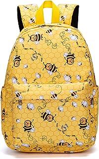 BLUBOON 幼儿背包 适合学龄前儿童 小女孩 学校背包 适合小孩子尿布包 黄色
