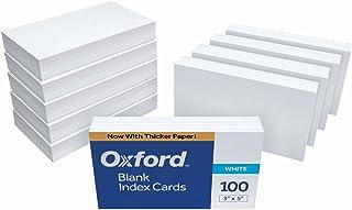 Oxford 空白索引卡,7.62 x 12.7 cm,白色,100 张装 空白 3 x 5, 1000 cards 白色