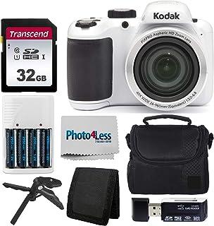 Kodak 柯达 PIXPRO AZ401 Astro Zoom 16MP 数码相机 + 点拍照相机包 + Transcend 32GB SD 存储卡 + 可充电电池 & 充电器 + USB 读卡器 + 桌面三脚架 + 配件AZ401 White  白色