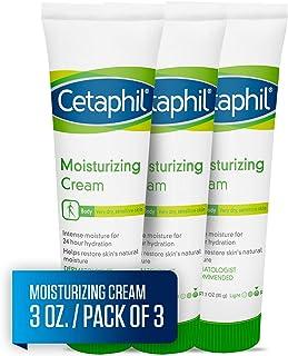 Cetaphil 丝塔芙 保湿霜,适合非常干燥,敏感的皮肤,无香,3盎司/85克(3件)