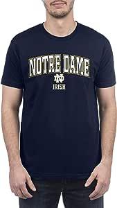 Top of the World NCAA 圣母大学斗士爱尔兰男士可回收高性能团队颜色短袖 T 恤,圣母大学战斗爱尔兰*蓝,XXL 码
