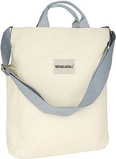 Wrapables 女式帆布手提包,休闲斜挎单肩手提包