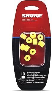 SHURE 耳垫 EAYLF1 (5对) 黄色 EAYLF1-10 【国内正品】