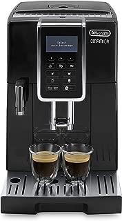 De'Longhi 德龍 Dinamica ECAM 350.55.B 全自動咖啡機(數字顯示屏,內置牛奶系統, 背景燈按鍵,自動清潔,雙杯功能,23,6 x 42,9 x 34,8 cm)黑色