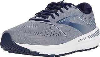 Brooks 男式 Beast '20 跑步鞋,蓝色/灰色/粗呢大衣