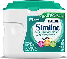 Similac 雅培 For Supplementation 婴儿配方奶粉,Non-GMO,含铁,23.2盎司(658g)(4罐装)