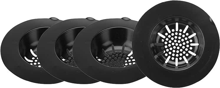 Mind Reader 滤网,卫生一次性浴缸排水器,防止堵塞,浴缸排水过滤器 25 Pack Strainer Black SINK25-BLK