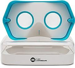 新改進的 DSCVR 虛擬現實查看器 適用于 iPhone 和 Android 智能手機 - 靈感來自谷歌卡 2.0 - Google WWGC 認證的 VR 查看器DSCVR 藍色