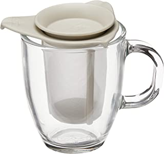 Bodum Yo-Yo Set Mug and Tea Strainer, 12-Ounce, Off-White