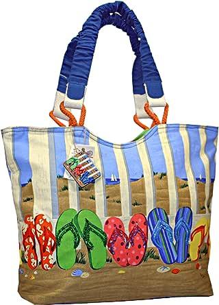 Sand 夹趾拖鞋大号沙滩手提包