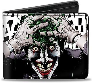 Buckle-Down 男式双折钱包小丑,4.0 x 3.5 英寸