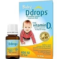 Ddrops 婴儿维生素D3滴剂 400IU 90滴 2.5mL (2件装)