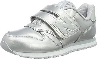 New Balance 女童 Yv373v1 运动鞋 银色 23 欧码