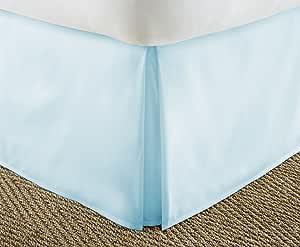 ienjoy 家居系列奢华褶裥床裙床罩 水绿色 两个 XL IEH-BEDSKIRT-TWINXL-AQUA