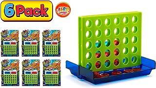 JaRu Checker Drop Connect 旅游迷你便携式口袋棋盘游戏 经典玩具聚会跳棋#3253-6件