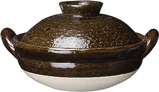 长谷制陶(Nagatani Seitou) 土锅 茶色 750毫升 长谷园 伊贺土锅 饴釉 小(1-2人用) NNM-41