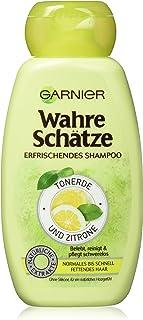 Garnier 真实宝藏 清爽洗发水 氧化铝 & 柠檬,活化清洁护理正常及速油性毛发,250ml