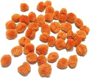 Goelx 绒球适用于工艺品、装饰、珠宝制作、配件、包 - 50 个装 砂棕色 Pack of 50 Pom Pom Balls POM-POM-BALLS-26Colors-50Pack-SandBrown