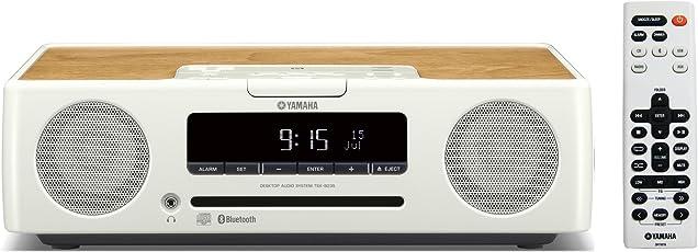 YAMAHA雅马哈 台式音响组合系统 CD/USB/广角FM・AM无线电收音机/蓝牙aptX AAC对应 时钟音频 白色 TSX-B235(W)