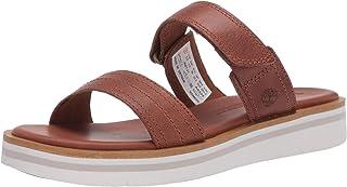 Timberland 女士 Adley Shore 2_Band 皮革拖鞋