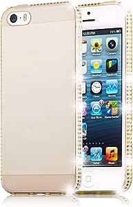 Cadorabo 手机壳适用于苹果 iPhone 5 / iPhone 5S / iPhone SE(设计线)- 防震防刮凝胶外壳保护壳DE-106634 DIAMOND-GOLD