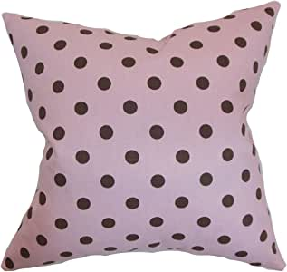 "The Pillow Collection Nancy Polka Dots 欧式枕套粉红色黑色 ""Multi"" Standard/20"" x 26"" STD-PP-POLKADOTS-MAGGIEKELSO-C"