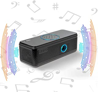 AAXA BP1 扬声器投影仪 - 蓝牙 5.0,电池充电宝,投影长达 6 小时或 24 小时播放时间,USB C 镜像,板载媒体播放器,HDMI,DLP 便携式迷你 LED 投影仪