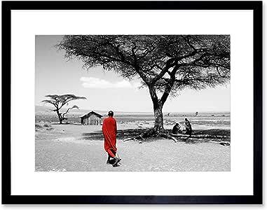 PHOTO LANDSCAPE 亚历山大西部非洲坦那框架印画 F12X3916 黑色 12-Inches x 16-Inches F12X3916_BL