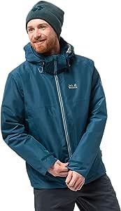 Jack Wolfskin 男士 North Fjord 防水保暖三合一夹克