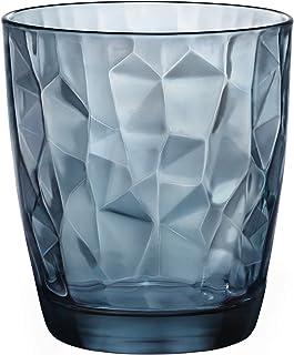 Bormioli 波米欧利 意大利进口 玻璃水杯钻石系列六只炫彩装390ml(2只森林绿+2只海洋蓝+2只神秘紫)